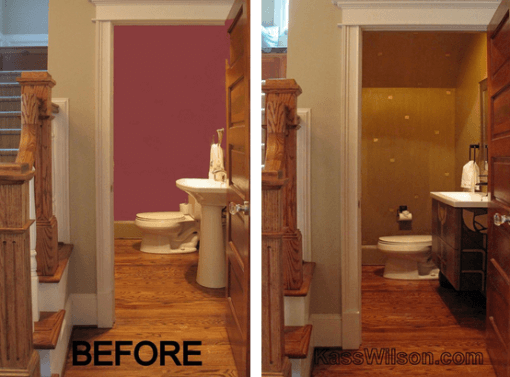 decorative painting bathroom remodel