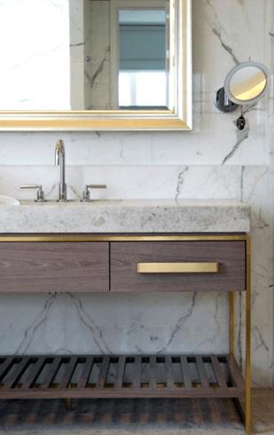 brass bathroom
