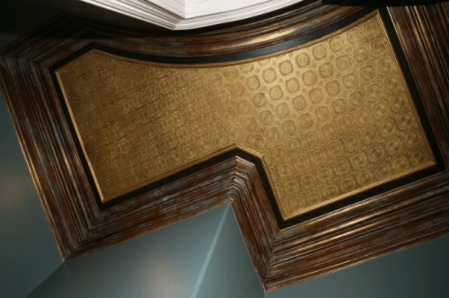 gold ceiling faux finish