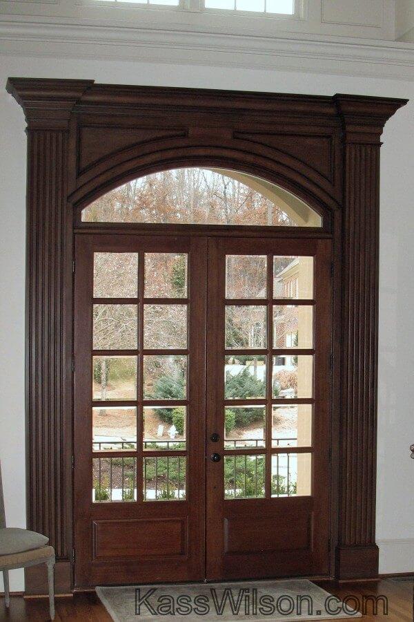faux wood grain front door
