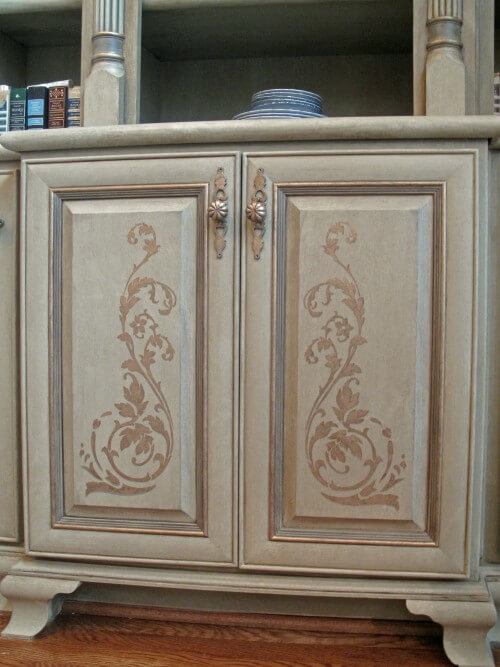 decorative painting cabinet