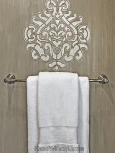 Luxury Defined: Stencil, Texture Transform Master Bath