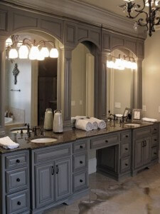 Subtle Suggestions: Master Bath Cabinetry Refinishing