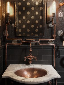 steampunk bathroom design