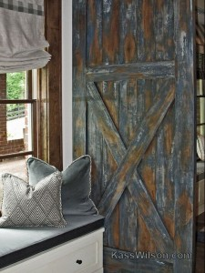 Deja Blue: Faux Finished Sliding Barn Door