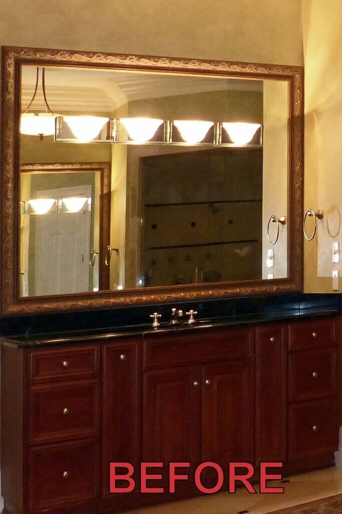 transitional Atlanta cabinet refinishing- before