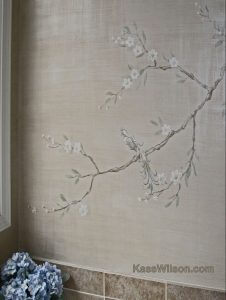 Double Exposure: Chinoiserie Botanicals in a Master Bath