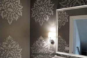 damask faux finish