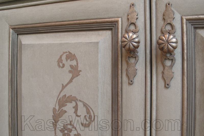 decorative painting cabinets