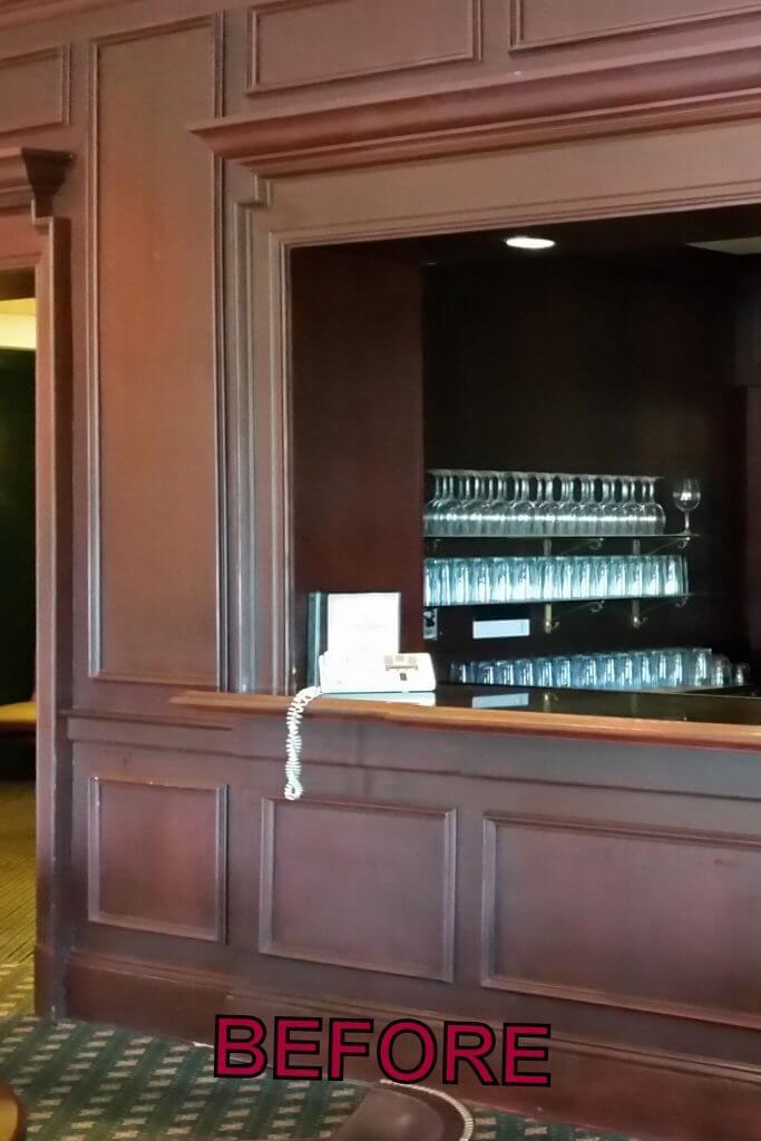 TPC Sugarloaf cabinet refinishing before