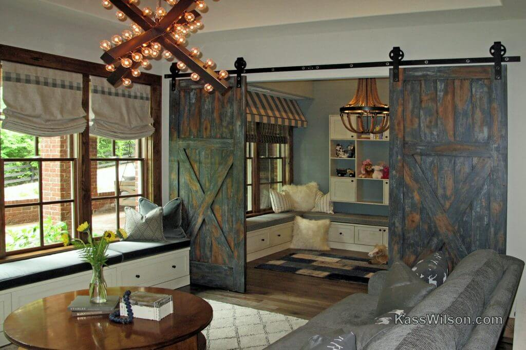 rustic faux finish doors