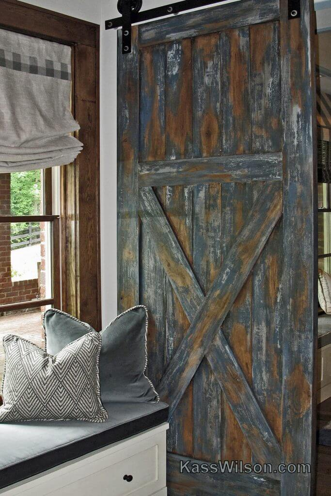 rustic faux barn doors