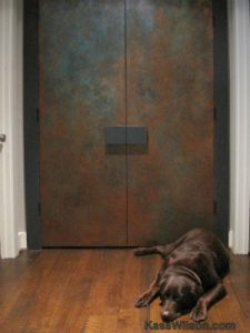 Thumbnail Painted Copper Door