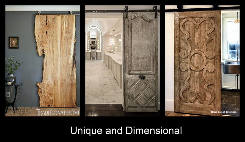 unique and dimensional sliding doors
